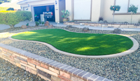 Lawn and Retaining Wal