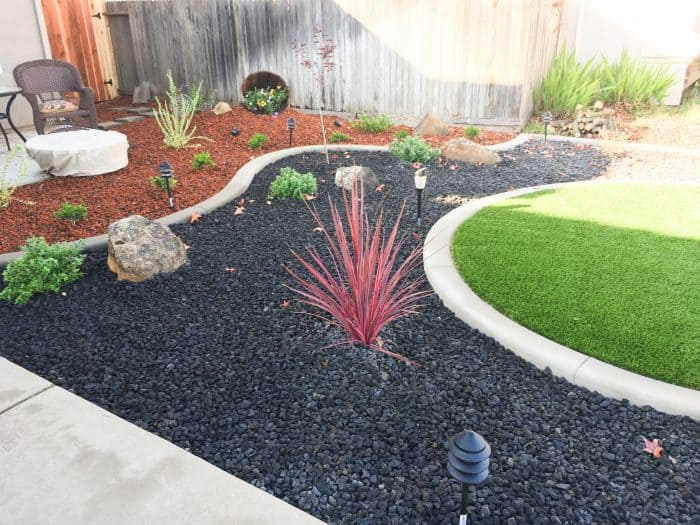 trees, shrubs, ground covers and bark