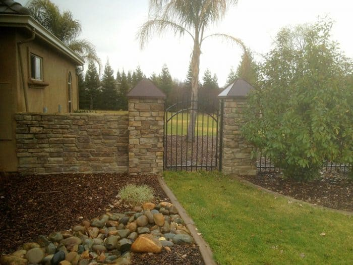 picture of house with a gate