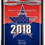plaque best of 2018 Elk Grove Award